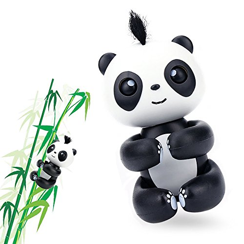Interactive Happy Baby Panda, Finger Panda Toys for Children Electronic Toys for Boys and Girls (Black)