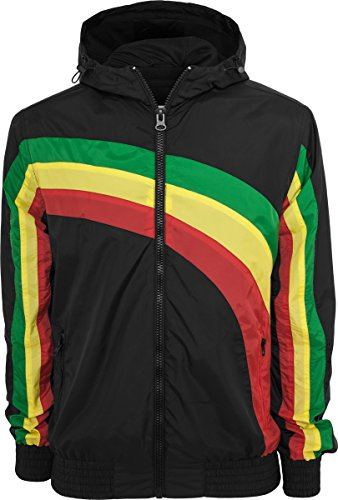 URBAN CLASSICS College Sweatjacket//Rasta//Reggae