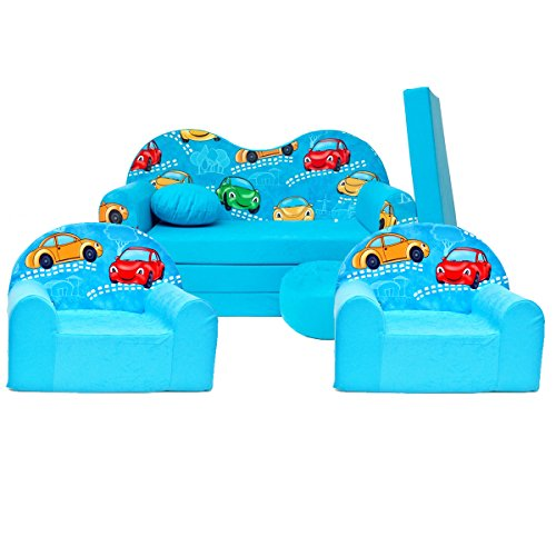 Kinder 3-er Set Kindersofa + 2 sessel B11