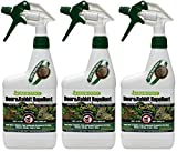 (3 Pack) Liquid Fence Deer and Rabbit Repellent, 32-Ounce Each