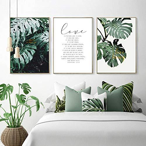 XIXISA Planta Verde Tropical Hoja Escandinavo Cartel
