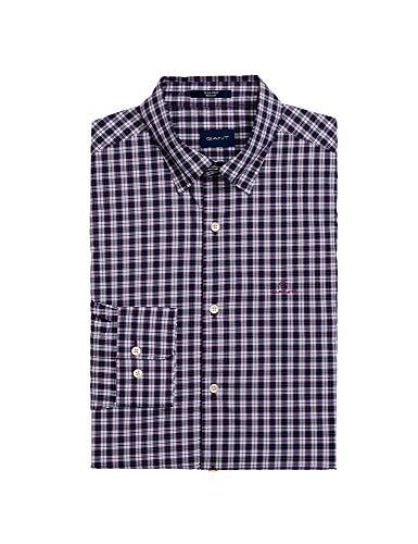 GANT Men's Tech PrepTM Checked Shirt Purple in Size Large