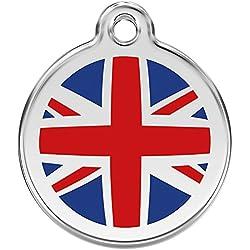 Red Dingo Médaille pour Chien Motif Drapeau Anglais 38 mm