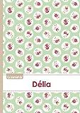 Le carnet de Délia - Lignes, 96p, A5 - Roses Tea time