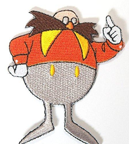 Dr Eggman Sonic the Hedgehog Patch Embroidered Iron on Badge Sega Retro Gamer Costume Applique Motif Bag Hat T-Shirt Dr Egg by Premier Patches Applique Hat