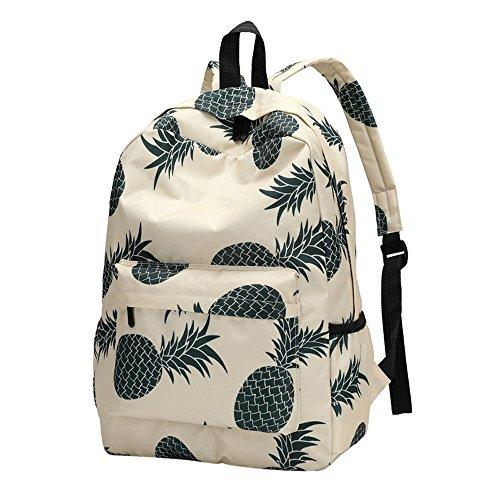 Laptoprucksäcke Daypacks Kamerarucksäcke Sport & Outdoor Neuer Art Frauen Rucksack Ananas Druck Bookbags Weiblicher Reiserucksack Frischer Reißverschluss (40cm, C) (Rucksack Bookbag)