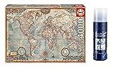 Educa 14827. Puzzle 4000 piezas. El Mundo Mapa Politico + Pegamento Puzzle. 58975/64553