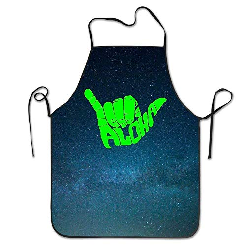waii Symbol Adjustable Bib Apron Adult Home Kitchen Apron Chef Apron for Men and Women ()