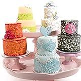 Fyuan Foglio di plastica Floreale Fondente Texture Set Strumento Fai da Te per Decorare Biscotti, Cupcakes o Creare Accenti per Torte, Set di 6