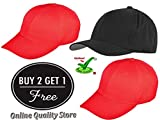 #6: Trendy Cap Red Color for Men's and Women's BUY 2 get Free 1 Cap (Offer for 2 days)