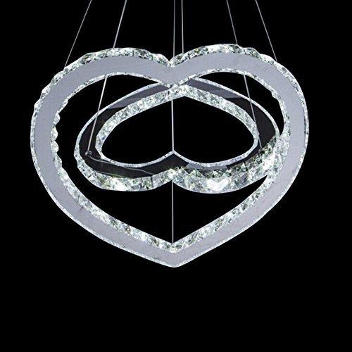 Moderne LED-Kronleuchter, Wohnzimmer Runde Herz Led-förmige Rundschreiben Beleuchtung Bar Cafe Einfache moderne Persönlichkeit Lichter leuchten