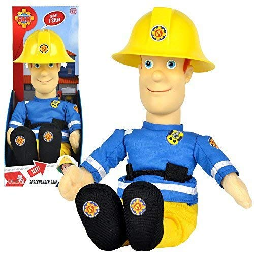 feuerwehrmann sam pluesch Feuerwehrmann Sam - Sprechender Sam Puppe Plüsch Figur 30cm