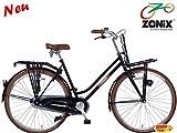 Zonix Damen Transportrad 28 Zoll Schwarz