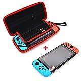 Nintendo Switch Tasche & Schutzhülle mit Schutzfolie - EVA Wasserabweisend Schützende Tragetasche / Hülle / Cover / Case für Nintendo Switch Konsole & Zubehör mit Netztasche und Reißverschluss