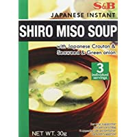 S & B Japanese Instant Shiro Miso Soup, 30 gm (Pack of 1)