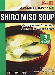 S & B Japanese Instant Shiro Miso Soup, 30 gm (Pack o
