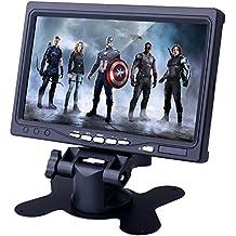 """Kuman Schermo TFT LCD 7"""" HD 1024 * 600 Capacitivo - Monitor-tablet per Raspberry Pi 3/2B/B/RPi/B+/A+ con HDMI VGA Input, DVD VCR automobile con Remote HDMI Cable SC7J"""
