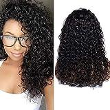 VIPbeauty Water wave Perruque lace frontale 130% Densite Remy cheveux Bresilien naturel couleur naturel pour femme 24 pouces.