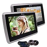 9 pollici coppia HD Digital TFT LCD doppio schermo auto poggiatesta lettore DVD portatile con Touch Button supporto Viedo Monitor con HDMI e / FM di deviazione standard IR per cuffie USB includono il controllo remoto