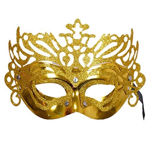 YAZILIND Frauen Zubehör Mode Crown Halbes Gesicht Venedig Maske für Kostüm Masquerade Halloween Party (Kostüm Frauen 2 Sache)