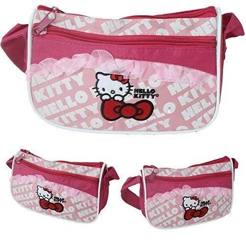 TE-Trend Hello Kitty Tasche Kinder Mädchen Handtasche Vorfach Fahrradtasche pink (Handtasche Kitty Hello)