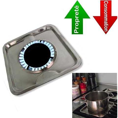 ECO-olla bandeja para quemadores de gas - 4 - juego de cocina hace más fácil, más rápida, con menos