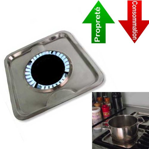 4 Pezzi - Ecocuiseur Inox - Fornello - economizza energia, accellera la cottura ed evita lo sporco