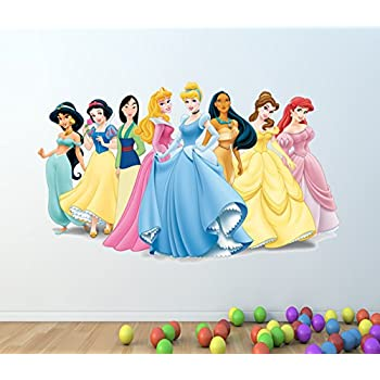 DISNEY PRINCESS WALL STICKER FULL COLOUR   TANGLED ALICE IN WONDERLAND TOY  C190 Size: Large Part 40
