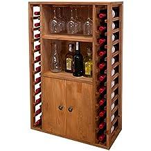 Expovinalia ex2521 - Botellero en pino, capacidad 20 botellas, color roble claro