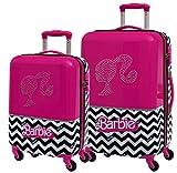 Set 2/Trolleys Abs 55/69cm.4r.Barbie