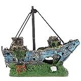 vitihipsy Aquarium Aquarium Ornament Wrack Segelboot versenkt Schiff Zerstörer Dekor