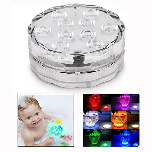 Itian Lumières LED Submersibles lumière imperméable à l'eau pour Base de Vase, Floral, Aquarium, étang, Mariage, Halloween, fête, etc