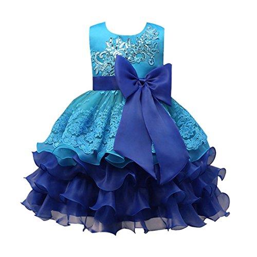 not Kinder Mädchen Kleid Prinzessin Formelle Festzug Kleid Party Brautjungfer Kleider(F-Blau,3T) (Herren Halloween-kostüme Der 1920er Jahre)