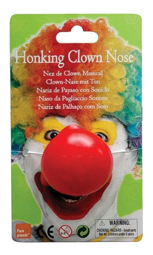 Bristol Novelty MD178hupenden Clown Nase, Rot, One ()