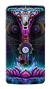 OnePlus Two Black Hard Printed Case Cover by Hachi - Snake Design