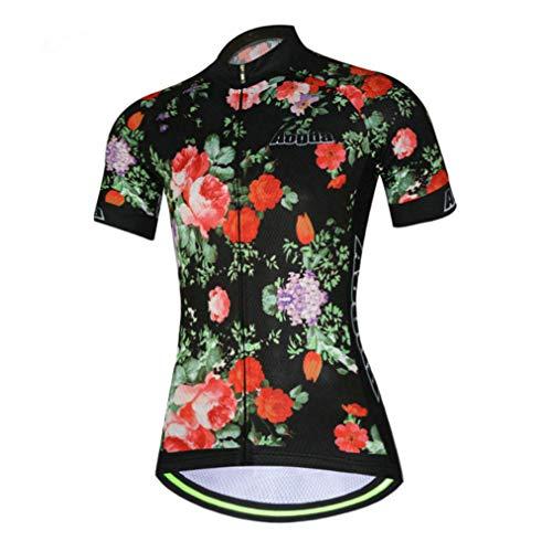2017Damen Short Sleeve aogda Fahrrad Jersey 3D Silikon Gepolsterte Bike Mädchen skinsuits Hemd Lätzchen Hosen Kleidung tragen D914