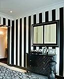 GAOJIAN Schwarze weiße vertikale gestreifte Wand-Aufkleber Moderne Schlafzimmer-Wohnzimmer Fernsehapparat Wand-PVC-Tapete-Breite 0.53Cm Lange 10M, a