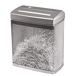 Hama Aktenvernichter (bis zu 7 Blatt, Kreuzschnitt, Schredder für Papier, Dokumente, Plastik-, Kreditkarten, 14-Liter Metallkorb, Papierschredder Sicherheitsstufe P-4 mit Vernichtung nach DSGVO)