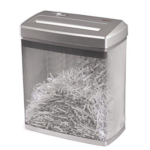Hama Aktenvernichter bis zu 7 Blatt (Kreuzschnitt, Shredder für Papier und Plastikkarten, inkl. 14-Liter-Metallkorb, Schutzklasse P-4/Sicherheitsstufe 2 nach DIN 66399) Papier-Schredder silber