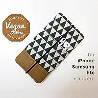 iPhone-Tasche Schwarz Weiss / Handytasche / Smartphone Case / Vegane Handytasche / Vegane Accessoires / Geschenk für sie / Weihnachtsgeschenk