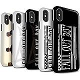 Offiziell Fall Out Boy Hülle / Glanz Harten Stoßfest Case für Apple iPhone X/10 / Pack 5pcs Muster / FOB Band Logo Kollektion