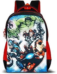 Priority Titan HD Avengers Group Black & Red Casual Backpack|Kid's School Bag