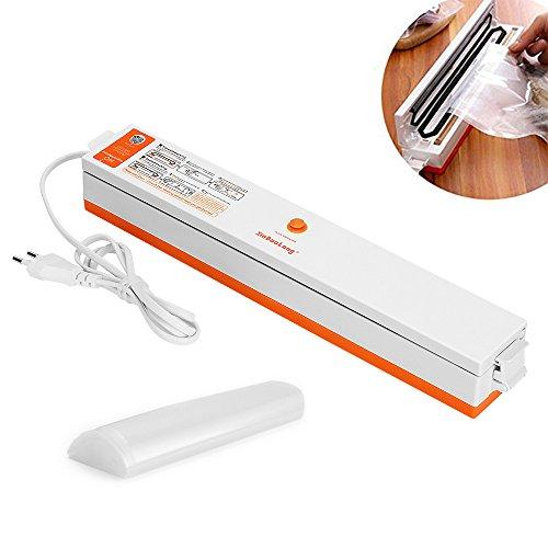 KYG Klein Vakuumierer Folienschweißgerät Einschweißgerät für Nahrungsmittel Frischhalten Lebensmittelaufbewahrung Mit 15 Profi- Folienbeutel