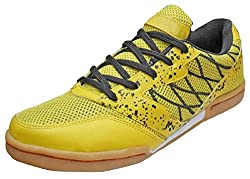 Port Unisex Yellow Badminton Shoes(Size 10 Ind/Uk)