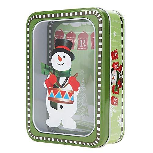 Bonita caja rectangular de regalo de Navidad