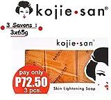 Pack 3 Seifen Aufhellung 65g Kojic Acid Skin Lightening Soap von Kojie San - 3x65g