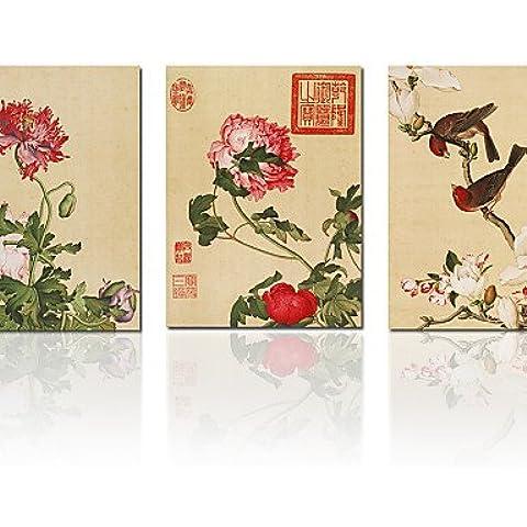 ZSQ Cinese Pittura Stampa su tela Artwork uccelli si insediarono sul ramo di albero moderne decorazioni Home Wall Art #1856