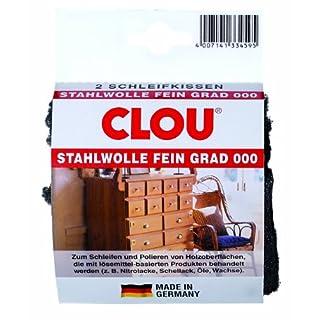 Clou Stahlwolle 000 Schleifkissen (1 Pack = 2 Stk.)