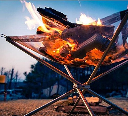 folding-stove-fire-frame-stand-wood-burning-grill-stainless-steel-net-rack-grid-heater-outdoor-firep