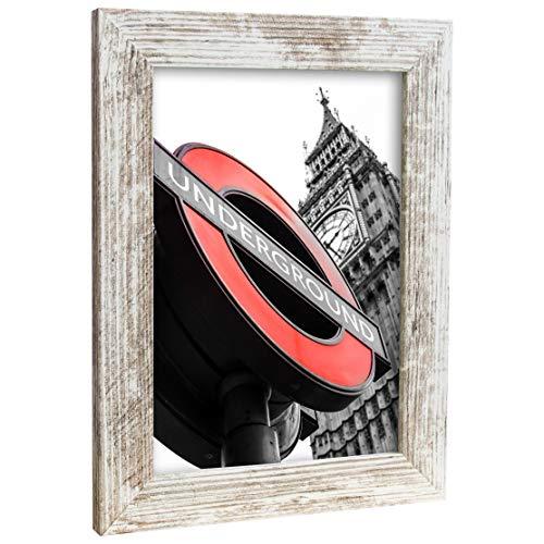 Bilderrahmen Fotorahmen 15x21 cm Vintage bilderrahmen zum aufhängen MDF Picture Frames Farbe und 40 Verschiedene Größen wählbar ohne Passepartout Rahmen London